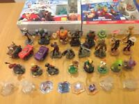 Disney Infinity 1.0 & 2.0 games portals and 31 characters