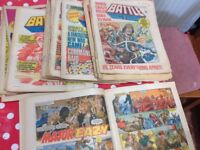 Battle action comics from 1978 free to a good home!