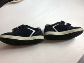 Trainers - Geox navy blue shoes with white - good condition. EU 29 or UK 11