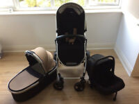 Tutti Bambini Riviera Plus Beige/Black 3-in-1 Single Seat Stroller