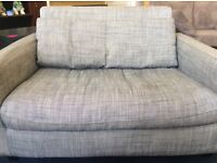 Habitat 2 seater grey sofa length 49 inches. Great condition