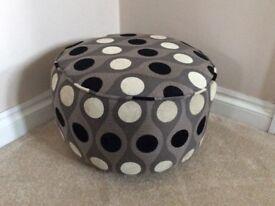 Footstool /pouffe in retro fabric