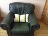 Leather Sofa,chair and footrest