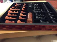 Stunning chess n draughts set for sale. Hand made Italian lovely set.