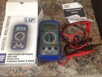 Digital multimeter box leads manual and battery