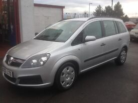 Vauxhall zafira 1.6 club 55 plate 87000 miles car leaves with year MOT silver 7 seater