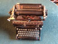 Old-time Underwood typewriter made in USA c 1920s