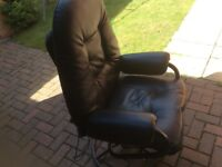 Leather electric chair