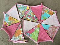 3M Pink Floral Double sided Bunting.