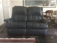 DFS 2 seater REAL LEATHER RECLINER sofa.