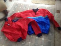 Waterproof sailing tops x 2. Child XL and L VGC