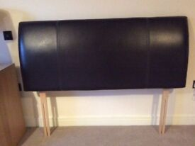 5ft brown leather headboard