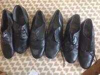 Selection of men's ballroom dancing shoes
