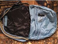 GAP Metallic Blue Nylon Buckle Messenger Bag RRP £49