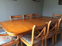Yew table and chairs
