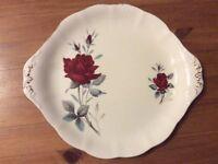 "Albert Rose ""Sweet Romance"" cake plate"