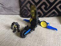 Batman figure and vehicle imaginext fisher price