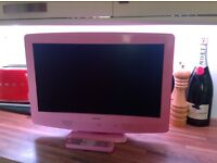 Pink Bush TV With Built In DVD Player
