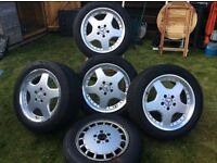"Mercedes 17"" Alloy Wheels (4+spare)"