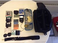 Padded camera bag and various accessories
