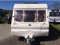 For sale bailey ranger 550/6 berth 2003 caravan with fixed bunks and accesories