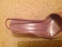 Women's shoes, LK Bennett mauve silk wedding shoes, size 39.
