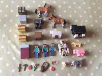 Bundle of Minecraft figures & accessories