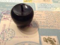 Black wooden sugar bowl