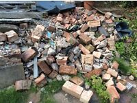 Free used bricks and concrete rubble