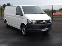 2016 VW TRANSPORTER LONG WHEEL BASE 2.0 TDI BLUEMOTION TECH WITH ONLY 13000 MILES. LOTS OF EXTRAS.
