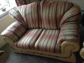 Lovely Three piece suite 2x one seater and 1x sofa