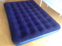 Flocked Double Air Bed Blow Up Mattress Good Condition
