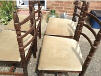 Table and 4 chairs FREE VGC