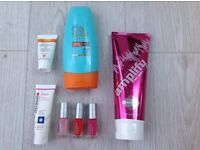 Marks and Spencer beauty box including sun and tanning products
