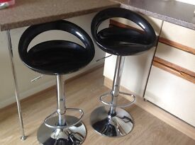 Black and chrome bar stools for sale