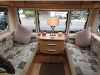 Bailey Senator Wyoming 2008 4 berth, fixed double bed and end bathroom excellent condition