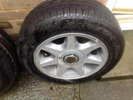 Ford mk4 escort cabriolet xr3i 7 spoke RS alloy wheels with new tyres