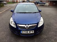 2008 Vauxhall Corsa 1.4i Club 5 Door Hatchback A/C Lady owner Mot Feb 2018 69000 Low milage