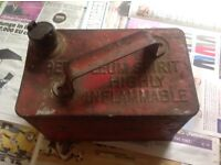 Vintage metal petrol can
