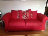 Two Sofas, Armchair and Footstool for sale