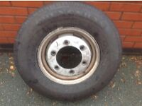 For sale a brand new tyre with used wheel
