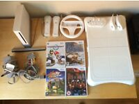 Wii console, peripherals and games bundle
