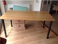 IKEA Oak Effect Office Table 150 x 75 cm