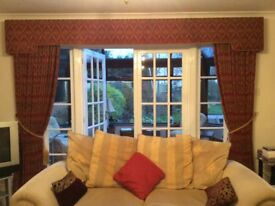 Lined curtains professionally made excellent quality