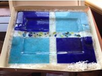 Glass tray by Murano