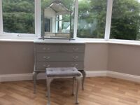 DRESSING TABLE MIRROR AND STOOL