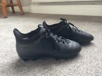 Adidas Black sock football boots. Child's size 12. Great condition
