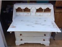 Desk/ Bureau antique painted
