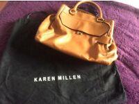Karen Millen tan leather tote hand bag excellent condition.