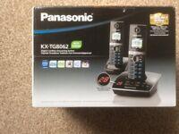 Panasonic KX-TG8062 Twin Cordless Hone Phone + instruction